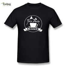 Custom Men Twin Peaks Coffee T-shirt Crazy Movie For Man Pure Cotton T Shirt