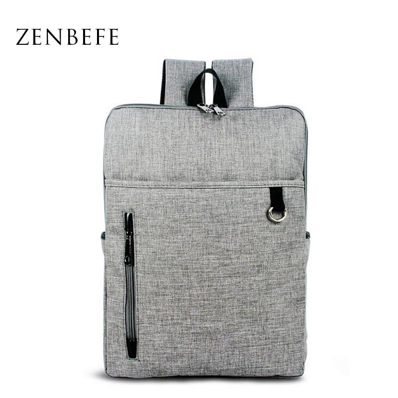 ZENBEFE Brand New Backpacks Business Travel Backpacks Fashion Laptop Backpack Quality School Bag For Teenagers Rucksack Daypack tcttt new 2016 travel bag women laptop backpacks girl brand rivet backpack fashion chains knapsack school bags for teenagers