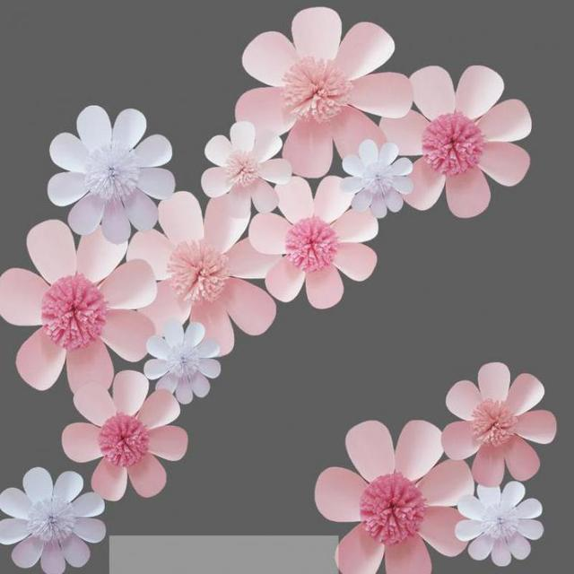 Cardstock giant paper flowers set for wedding event backdrops cardstock giant paper flowers set for wedding event backdrops decorations photobooth windows display 3 different mightylinksfo