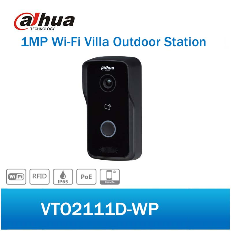 DH VTO2111D-WP 1MP WiFi Villa Outdoor Station Video Intercom Door Phone with P2P Metal Night vision Voice indication dh vto2000a 1 3mp video door phone poe p2p metal villa outdoor station remote intercom night vision with logo dh vto2000a