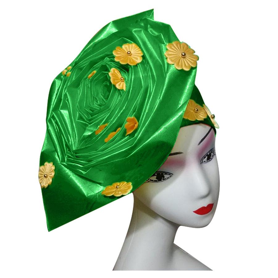 Auto gele nigerian gele headtie already made auto hele turban cap african aso ebi aso oke headtie 2018 (5)