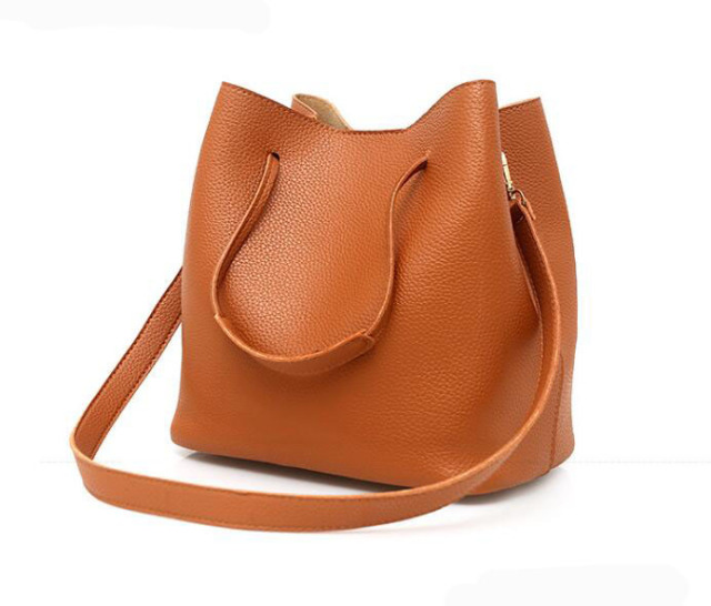 SMOOZA 4ps/set Women's Casual Leather Totes Handbag Shoulder Bag Ladies Messenger Crossbody Bags Composite Bag Clutch Wallets