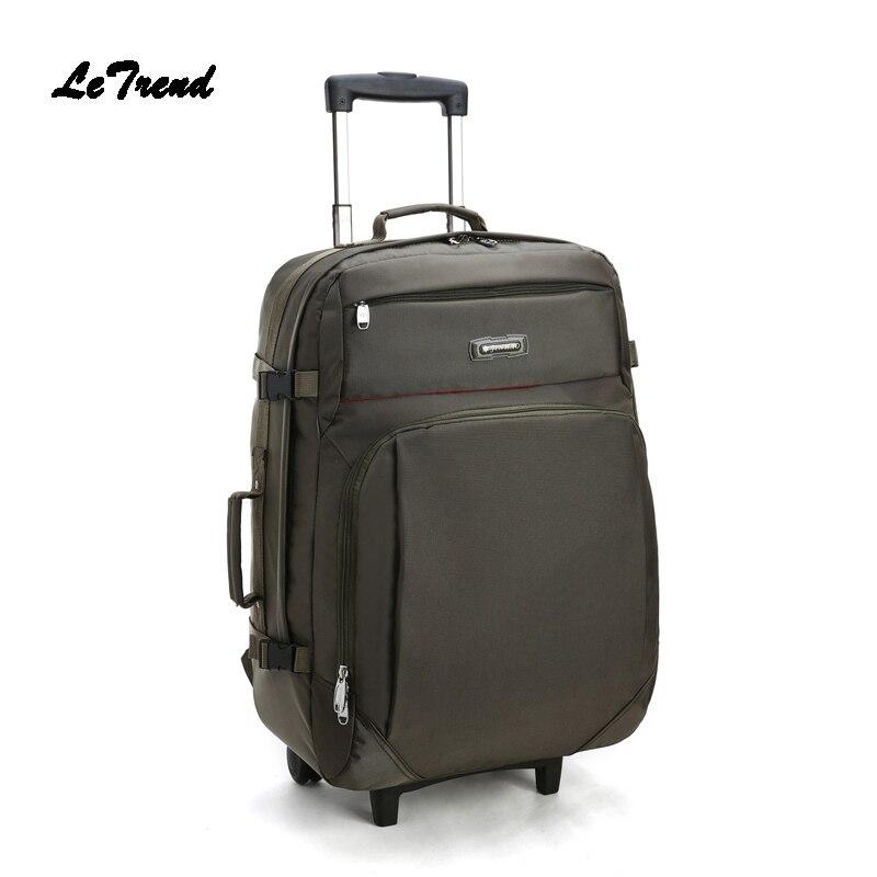 Letrend Rolling Luggage Travel Bag Backpack Korean Women Large Capacity Multifunctional Business Men Suitcases Wheel Trolley