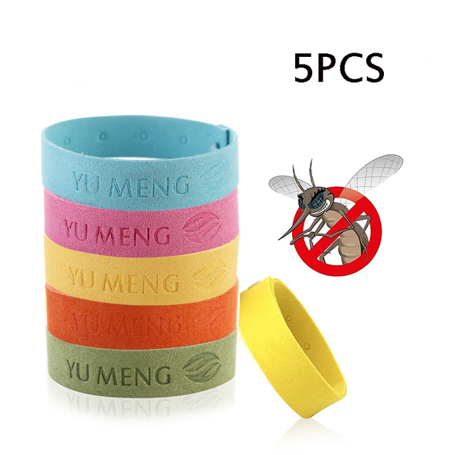 5pcs Super Fiber Insect Repellent Bracelet Essential Oil Anti Mosquito Natural Harmless Bedroom Outdoor