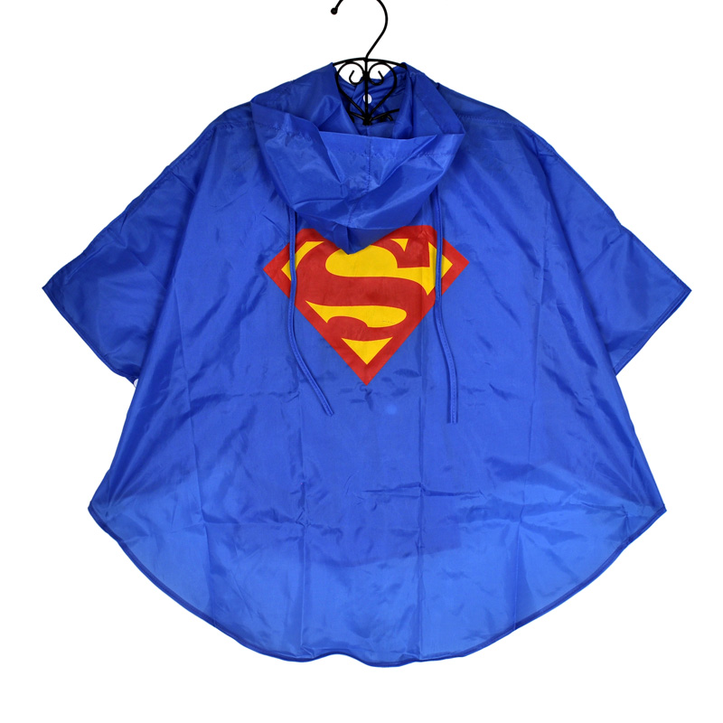 New High Quality Raincoat Superman Spiderman Batman Kids Children Rain Coat Kids Waterpr ...