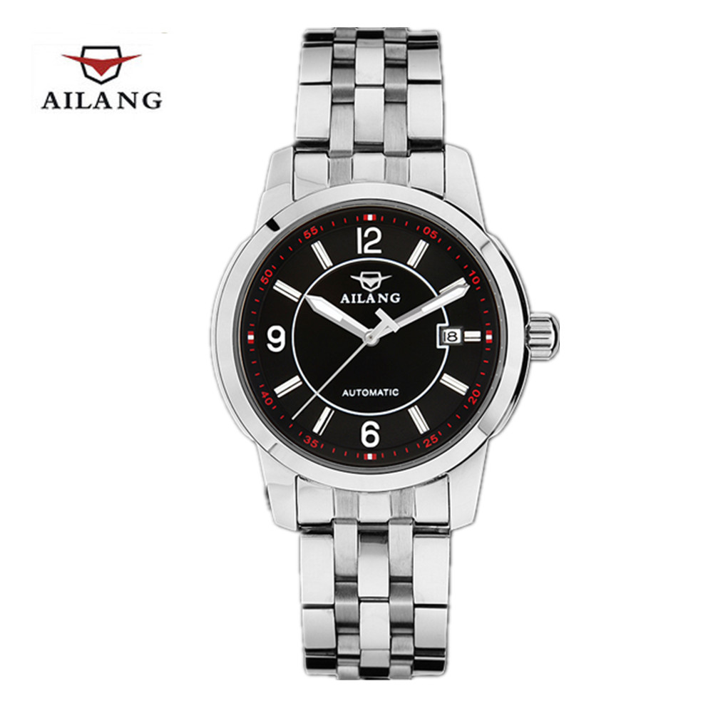New men luxury brand AILANG Men`s watch automatic mechanical watches dive 100m business casual wristwatches Relojes hombre 2016