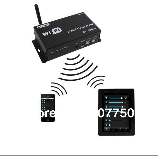DC 12V Wifi dmx converter controler WIfi310 model used for Iphones and Ipad control of dmx rgb led lights