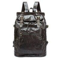 Новая сумка через плечо оптом Корейский первый слой кожаный рюкзак мужской Ретро мужской многофункциональный рюкзак