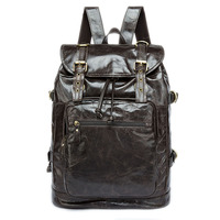 New shoulder bag wholesale Korean first layer leather backpack male retro men's multi function backpack