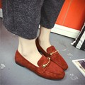 2017 Newest Leather Women Flats Shoes Women Casual  Loafers Slip on Creepers Vintage Shoes mocassin femme