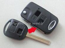 2 boutons remplacement Flip modification pliant à distance Shell Key Case pour Lexus clé Fob couverture