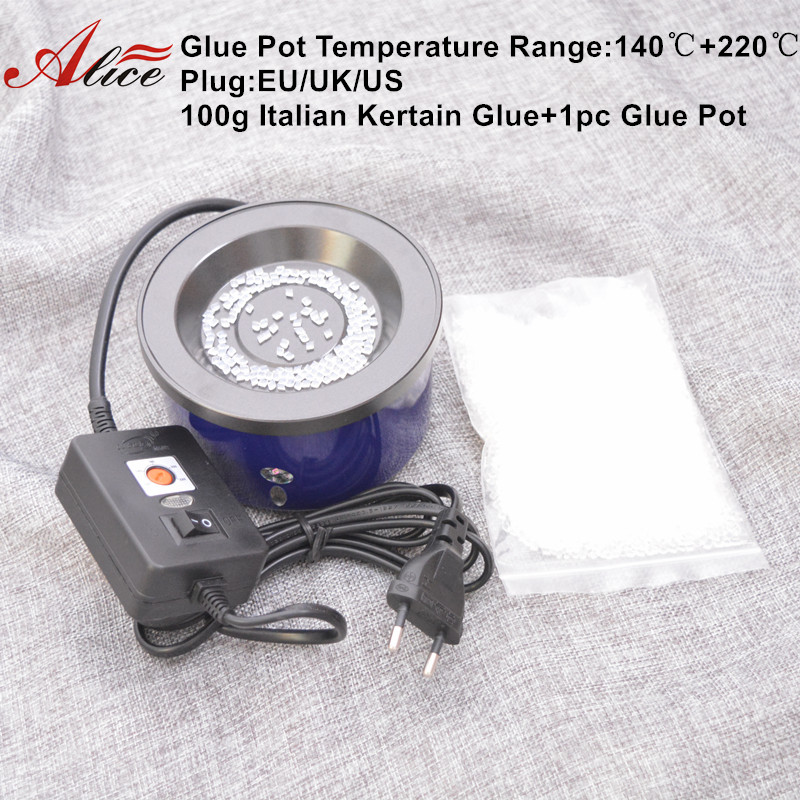 1pc Glue pot 100G Italian Keratin Glue Keratin glue bead hot pot Glue stove Temperature control