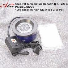 1 шт. баночка клея+ 100 г итальянский Кератиновый клей бусина горячий горшок/плита для клея контроль температуры Инструменты для укладки волос