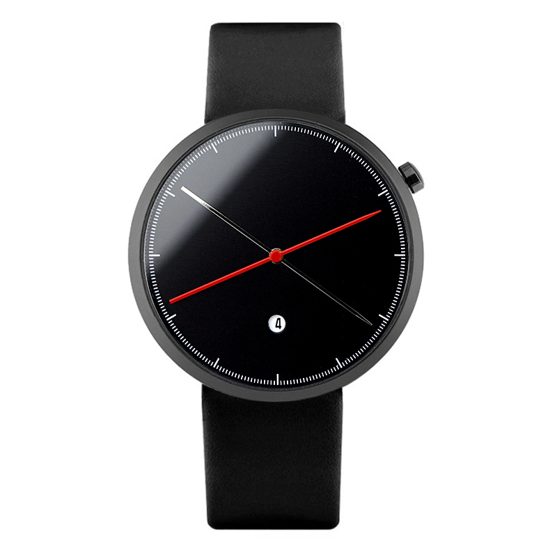 Enmex creative style cool wristwatch two balance hands with calendar casual leather strap fashion Stylish clock quartz watch 800g electronic balance measuring scale with different units counting balance and weight balance