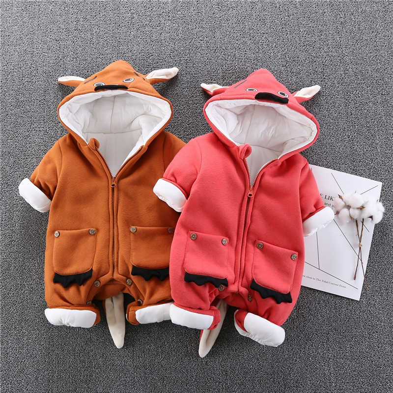 392ffa79d3e Newborn Baby Girl Clothes Cartoon Baby Boy Rompers Winter Zipper Cotton Baby  Snowsuit Thick Warm Toddler