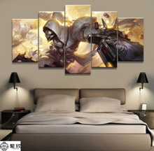 Hot Sales Without Frame 5 Panels Picture Overwatch Poster REAPER Game Artwork Wall Art Canvas Painting Wholesale