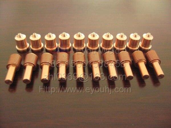200 stücke 45A Verbrauchsmaterialien (Düse 220671 + Elektrode 220669) für Plasma schneidemaschine, T45v/T45m Taschenlampe, FREIES SCHIFF durch EMS [PMX45]-in Schweißdüsen aus Werkzeug bei AliExpress - 11.11_Doppel-11Tag der Singles 1