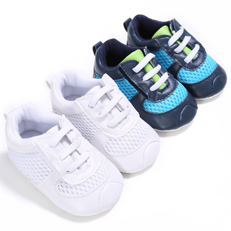 Baby Male Baby Shoes Newborn Soft Bottom Sports Breathable Shoes Cotton Baby Sports Leisure First Walker Toddler Shoes