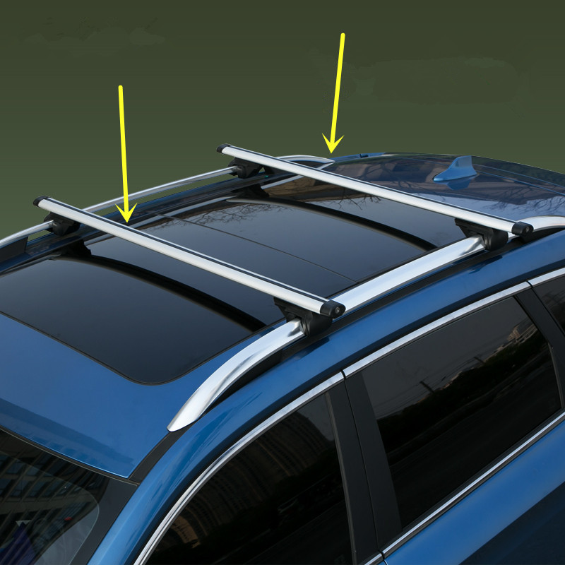 Roof Rack Rails Cross Bar For 2006-2015 Land Rover LR2 Freelander 3pcs Set Black