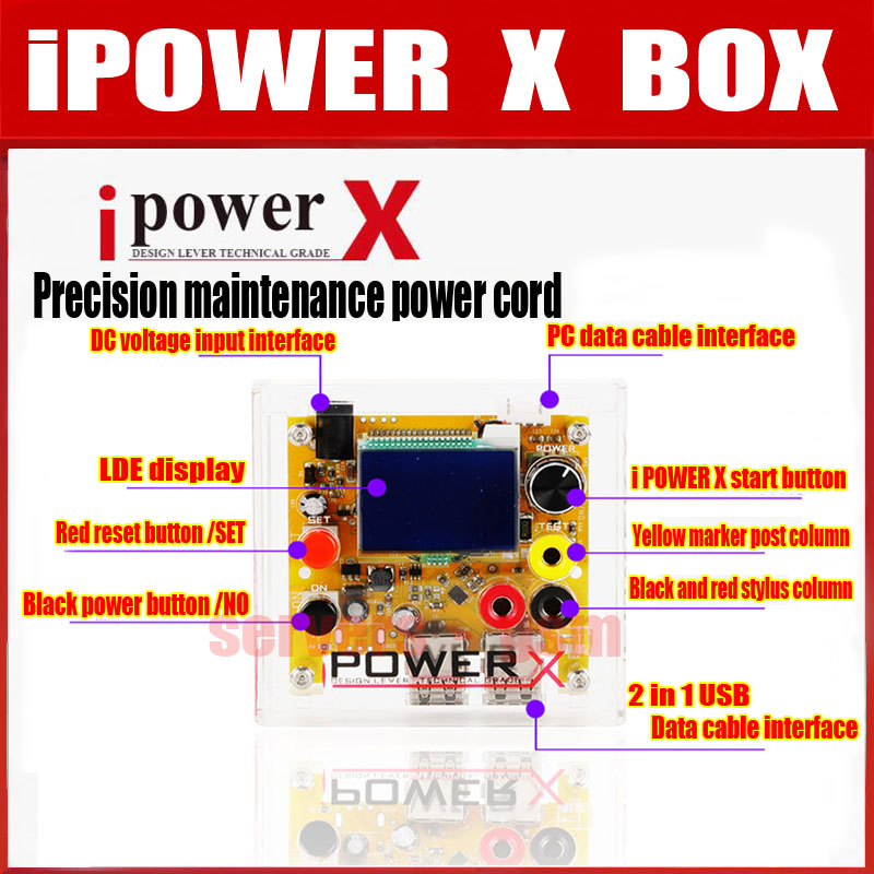 NEW iPOWER X Box For iPhone high precision DC to DC power supply Voltage tester input