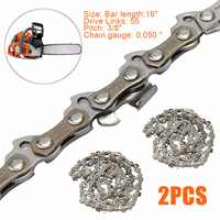 "2pcs 16"" Chainsaw 3/8"" Pitch Chain Blade Wood Cutting Chainsaw Parts Chainsaw Saw Mill Chain"