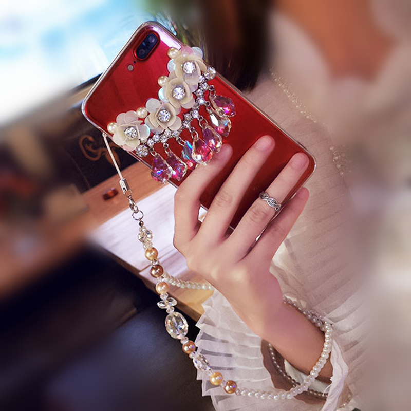 Luckywang For Iphone 7 Casesilica Gel Transparent Pearl Woman Favourite Best Fashion For Iphone 8 Mobile Phone Bags