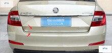 Новый стиль! 1 шт. для Skoda Octavia MK3 A7 2015 2016 2017 Нержавеющаясталь сзади багажника boot багажной Крышка отделкой