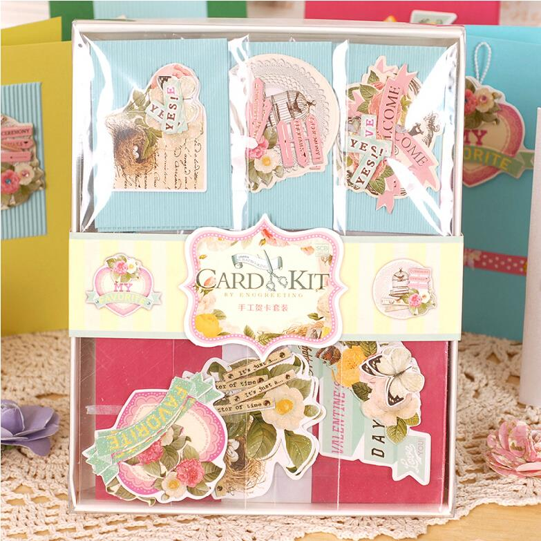 Eno Greeting Eno Greeting DIY Vintage Card Kit Set Creative Gift