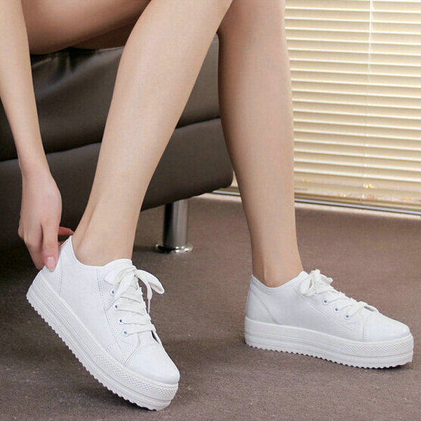 7ee89947e040 New 2015 Women Fashion Brands Low Platform Canvas Shoes Casual Sneakers  Lace Up Female Shoes Women Floral Sneakers Women Flats