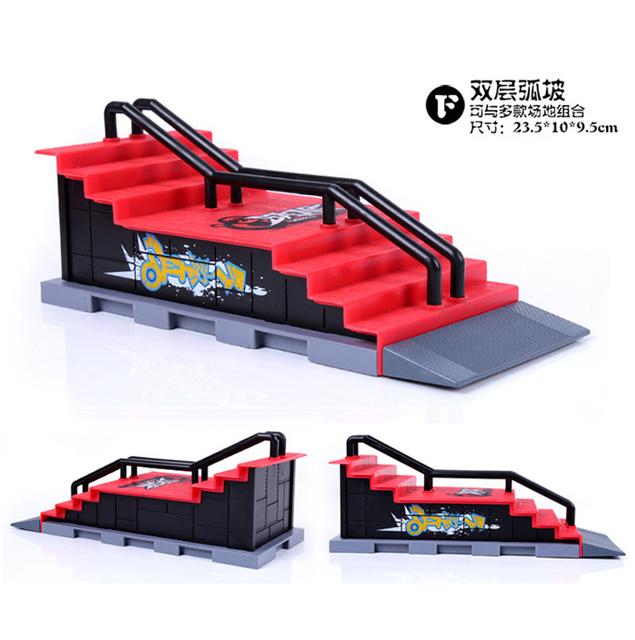 Modelo F Pasos Shape Dedo Skate Park Rampa de Piezas para Diapasón de la Plataforma Tecnológica y Tablero Del Dedo