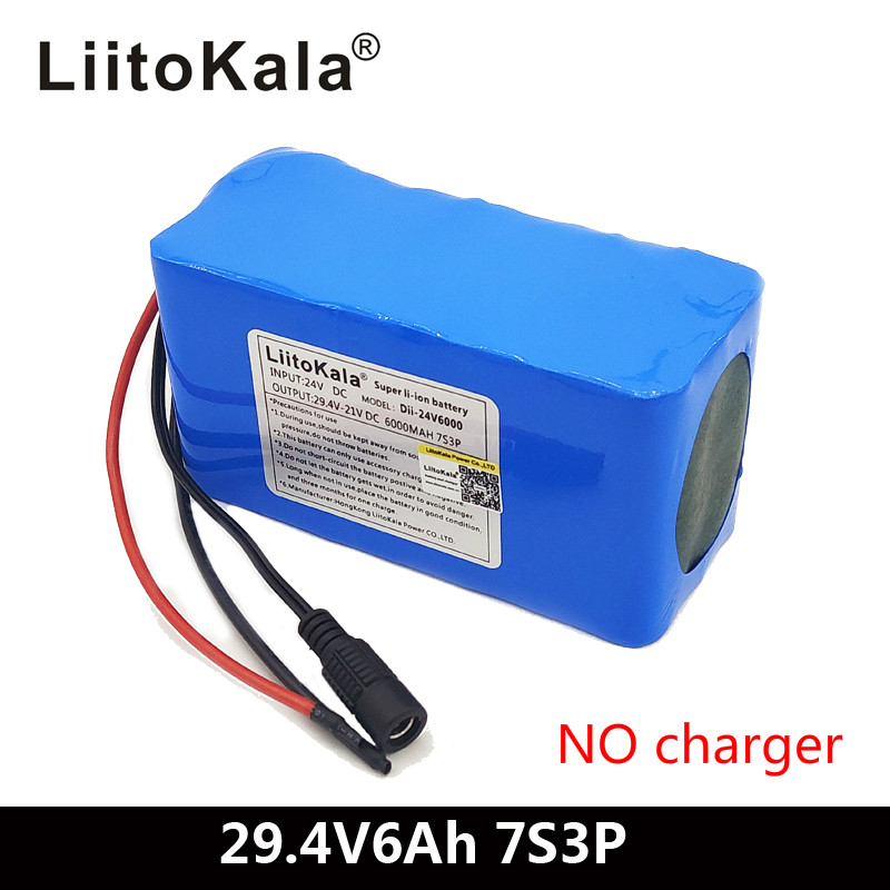 LiitoKala 24V 6Ah 7S3P 18650 <font><b>Battery</b></font> 29.4 v 6000mAh BMS Electric Bicycle Moped /Electric/<font><b>Li</b></font> <font><b>ion</b></font> <font><b>Battery</b></font> Pack image