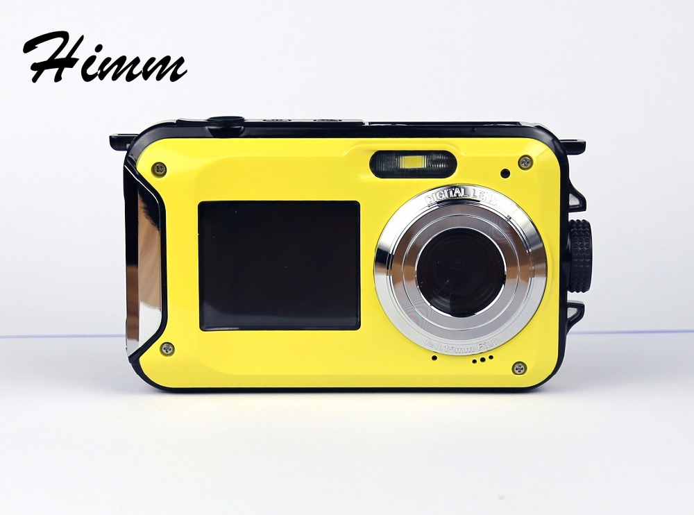 Max 24MP Double Screens Waterproof Digital Camera 2.7 inch +1.8 inch Screens HD CMOS 16x Zoom Camcorder waterproof Camera