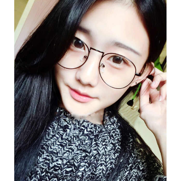 44037f583cdc Detail Feedback Questions about Korean Style Metal Thin Frame Glasses Round  Female Male Models Art Fan Men s Glasses Frame For decoration on  Aliexpress.com ...