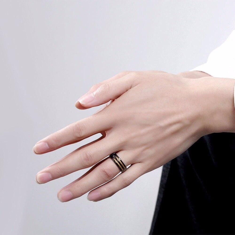 Romantic 2 Gold stripe Titanium Jewelry Fashoin Women Men Luxury ...