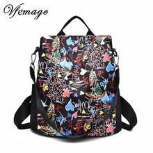 Fashion 3D Printed Backpack Women Oxford Female Multifunction Bagpack Girls Cool Schoolbags Anti theft