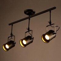 로프트 led 트랙 램프 북유럽 레트로 rh 미국 산업 led 스팟 램프 블랙 천장 빈티