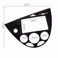 Double Din Fascia for 2006 Ford Fiesta/ Focus, 2DIN (European, LHD) Radio Refitting Dash Installation Trim Kit