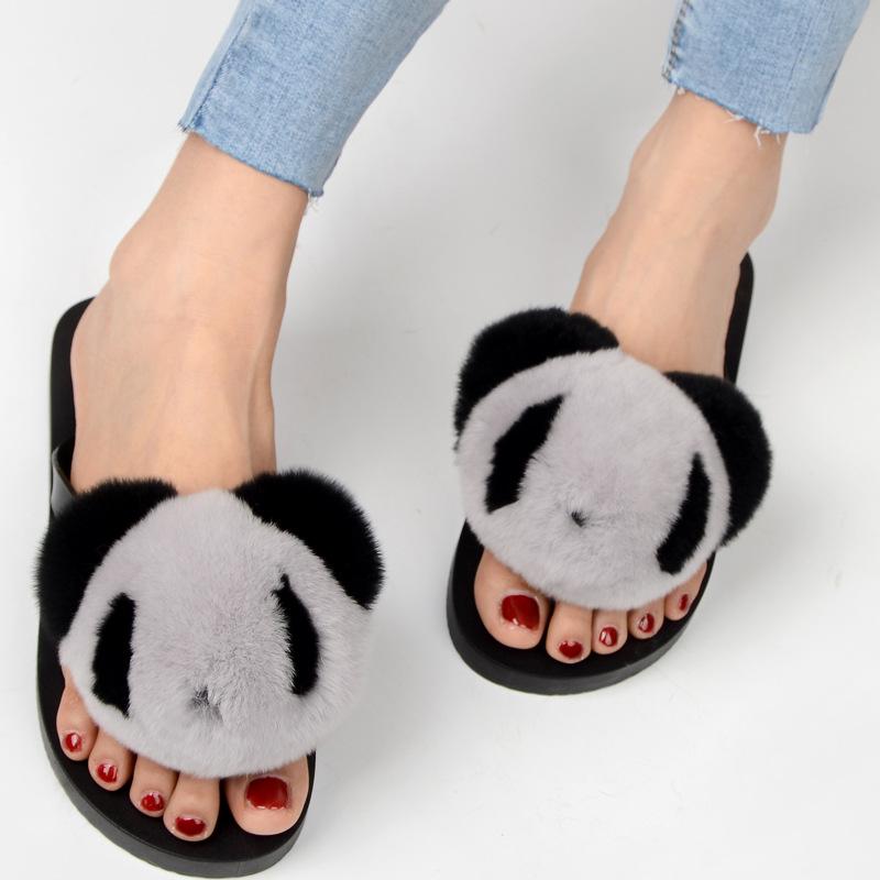 slipper real fur pompom (5)