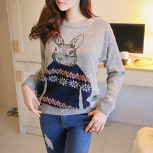 Dropshipping Winter Fashion Cashmere Pullovers Sweater Knitted Batwing Vintage Sweaters All-match Lolita Lovely Sweater