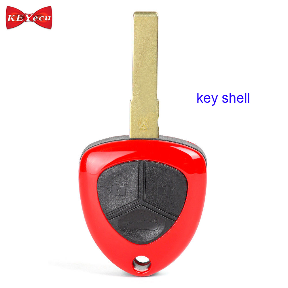 KEYECU pour Ferrari 458 Italia 599 GTB Californie FF Remplacement Télécommande De Voiture Shell Key Case Fob Couvercle Du Boîtier