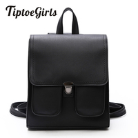 2017 Casual Women Backpack Bag High Quality PU Leather Girls Bag New Design Hasp 2 Front