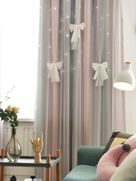 Modern Minimalist Princess Style Star Curtain Fabric 2018 New Bedroom Bay Window Shade Blinds Curtain