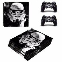 Gwiezdne wojny skórka kalkomania pokrywa dla konsoli playstation 4 Pro PS4 naklejki na skórę 2 sztuk skórki kontrolera dla PS4 akcesoria Pro