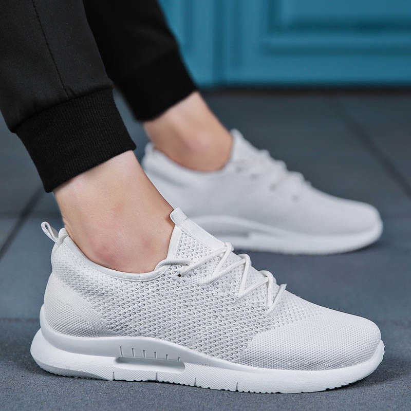 Weweya hafif rahat ayakkabılar erkekler sinek örgü kaliteli spor ayakkabı erkekler nefes Tenis Lace Up erkek ayakkabısı açık yürüyüş ayakkabısı