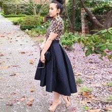 Черные модные Сатиновые юбки с высокой талией для женщин, офисные женские юбки на молнии, Женская сатиновая юбка макси на молнии, одежда на заказ