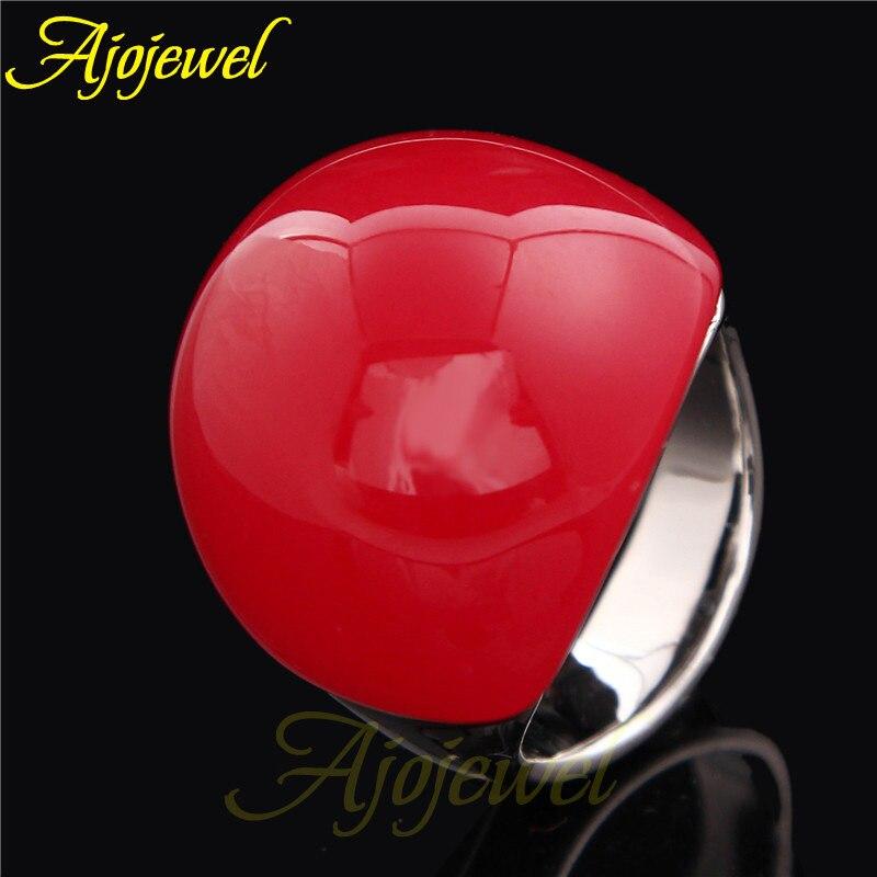 Size 8-10 Ajojewel Brand Fashion Gold Jewelry Red Stone Ring