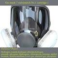 Cara completa de alta calidad de Silicona Filtro Máscara Máscaras de Protección del Respirador Máscara De Gas 7 Trajes de Pulverización de Pintura, Fumigación de Pesticidas