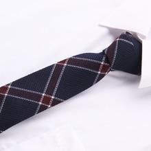купить 2018 Fashion wedding striped corbatas narrow slim gravatas tie Neck tie Skinny Brand 6 cm necktie cotton ties for Men  T29-2 дешево