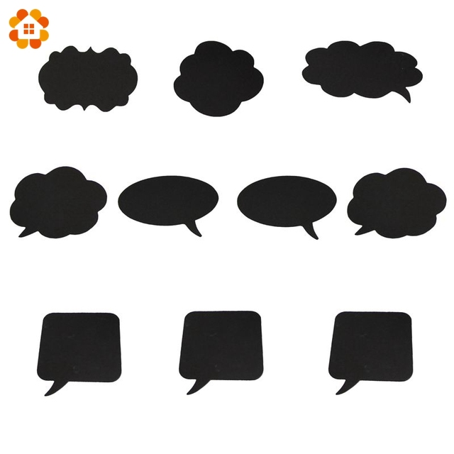 10pcsset new fashion diy black paper boardchalk photo booth props for home