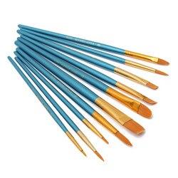 10/4 pcs New Nylon Punho De Madeira Paint Brush Set para Crianças Aquarela Guache Pintura Desenho Materiais de Arte J2Y